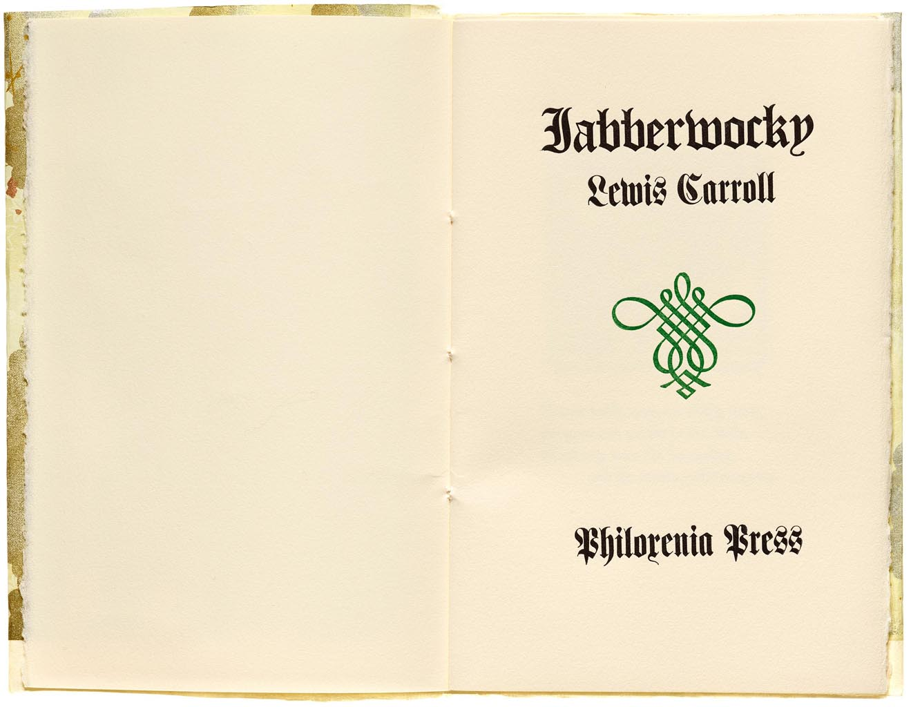 Title page to the Jabberwocky